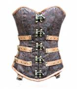Exquisite Brown Sexy Overbust Corset