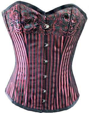 Charming Red Overbust Corset