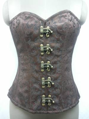 Magnificent Brown Sexy Overbust Corset